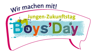 Boys'Day – Wir machen mit-Button